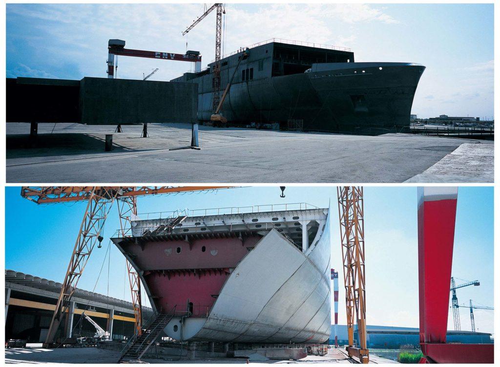 i cantieri Visentini costruiscono navi per il cabotaggio presso Mestre